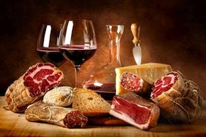 Сочетание красного вина с едой